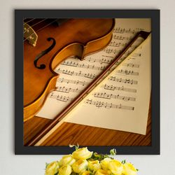 cv744-음악과바이올린인테리어액자