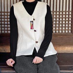 1486 여성 겨울 한옥 면누비 조끼 3color