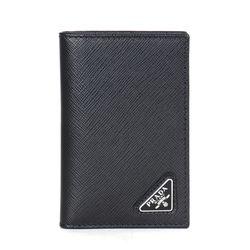 2MC101 사피아노 삼각로고 남성 카드지갑 블랙