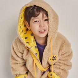 퍼키 와펜 뽀글이후드 점퍼 겨울 키즈공용 양털아우터