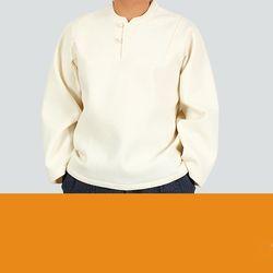 2435 남자 라운드 잔골 누비 티셔츠 2color