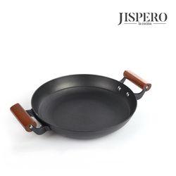 지스페로 우드핸들 무쇠주물 전골팬 양수 28cm