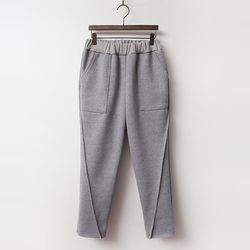 Day Baggy Knit Pants - 기모안감