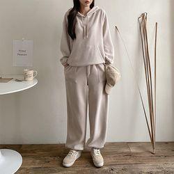 [Set] Gimo Warm Hood Sweatshirt   Jogger Pants