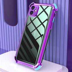 아이폰6 컬러 라인 클리어 커버 젤리 케이스 P474