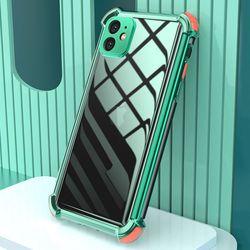 아이폰6S 컬러 라인 클리어 커버 젤리 케이스 P474