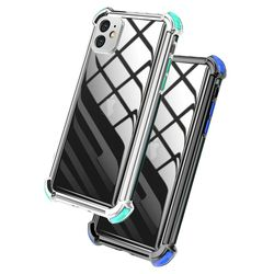 아이폰7 컬러 라인 클리어 커버 젤리 케이스 P474