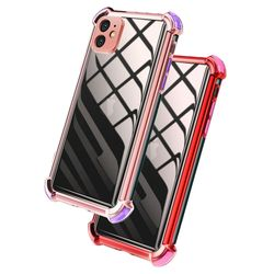 아이폰8 컬러 라인 클리어 커버 젤리 케이스 P474