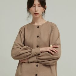 TWO-WAY SHIRRING BL (BROWN)