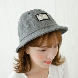 A1188 니트 라벨 벙거지 모자