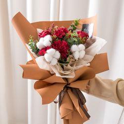 오트리엔틱꽃다발 43cmP 조화 꽃다발 선물 FMBBFT