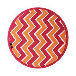 스톡홀름 논슬립 원형방석 마젠타 지그재그 37cmx37cm (8style)