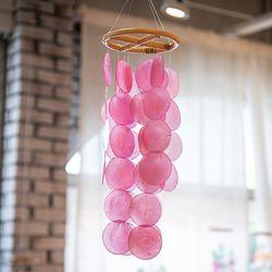 천연 자개 모빌 핑크