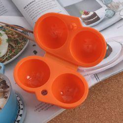 캠핑랜드 휴대용 2구 계란케이스(오렌지)