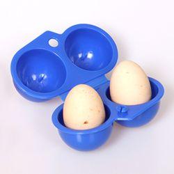 캠핑랜드 휴대용 2구 계란케이스(블루)