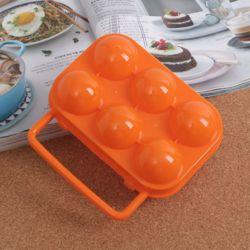 캠핑랜드 휴대용 6구 계란케이스(오렌지)