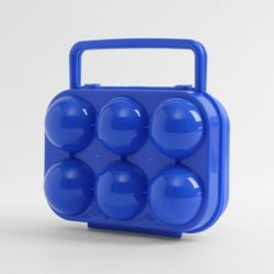 캠핑랜드 휴대용 6구 계란케이스(블루)