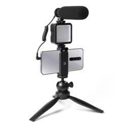 휴대용 개인방송 유튜브 촬영 방송 LED조명+마이크SET