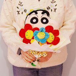 짱구 인형 꽃다발 생일 여자친구 졸업 선물