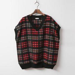Wool Tartan Knit Vest