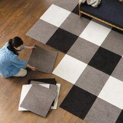 침실 거실 카펫바닥 조각매트(대형45x45)