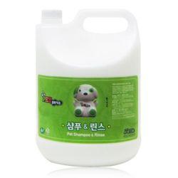 펫퍼스 대용량 샴푸 린스 겸용 4L 강아지 반려견 목욕