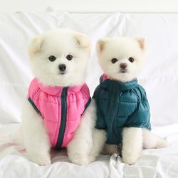 [ODD PET]울트라 초경량 양면 패딩 자켓(핑크&피콕그린)