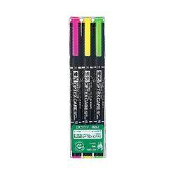 3900 ZEBRA 옵텍스 케어 양쪽 사용 형광펜 3색