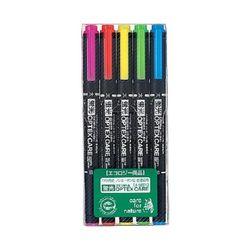 6500 ZEBRA 옵텍스 케어 양쪽 사용 형광펜 5색