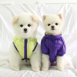 [ODD PET] 울트라 초경량 양면 패딩 자켓(레몬옐로우&바이올렛)