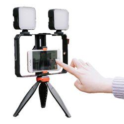 개인 방송 유튜브 촬영 장비 트윈 LED조명 삼각대set