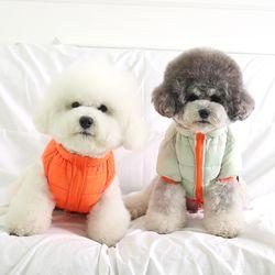 [ODD PET] 울트라 초경량 양면 패딩 베스트 (민트&오렌지)