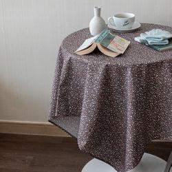 온더테라조마블브라운 식탁보 테이블보 130x130cm