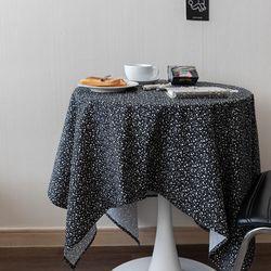 온더테라조마블블랙 식탁보 테이블보 130x130cm