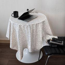 온더테라조마블아이보리 식탁보 테이블보 130x130cm