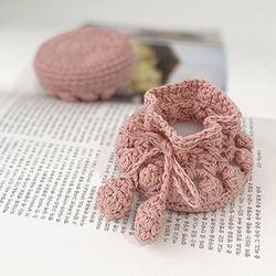 핑크 뜨개니트 의자발커버 4p set