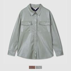 인조레더 셔츠형 자켓_SPJLB12W96