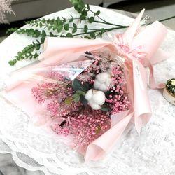 졸업식 입학 기념일 코튼플라워 안개꽃다발 대 핑크