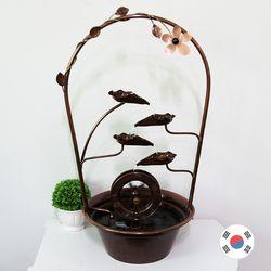 꽃화원 물레방아 소형 동공예 실내분수대 SFS-317