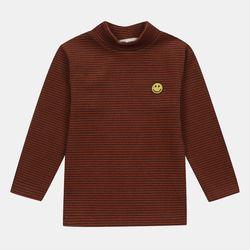 잔 스트라이프 폴라 티셔츠 MLLA20D01