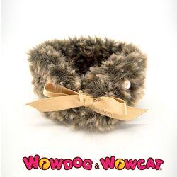 와우독 애견 뜨개 목도리-보들 브라운