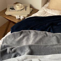 극세사 소프트 무지 담요 블랭킷 3color