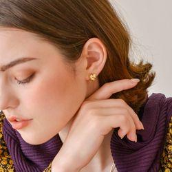 (태연 착용)바인 볼드 하트 귀걸이