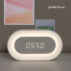 플랜룩스 무선 디지털 전자 탁상시계 USB 충전식