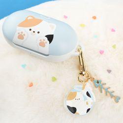 고양이 냥이 하드 갤럭시 버즈 플러스 케이스+냥이 키링
