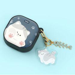 고양이 냥이 에폭시 하드 갤럭시 버즈 라이브 케이스+냥이 키링