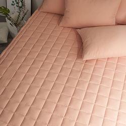 블럭 순면 누빔 침대 매트리스 커버 Q