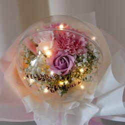 (1+PP백)반짝반짝 빛나는 LED감성 조화 꽃다발 8종
