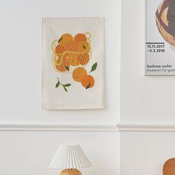 과일바구니 일러스트 패브릭 포스터 . 가리개 커튼 (포스터M)