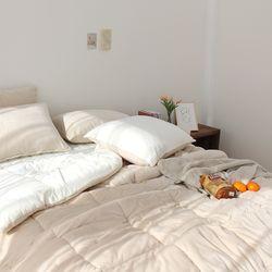 심플리투톤 극세사 겨울 차렵이불(K이불패드세트) 3color